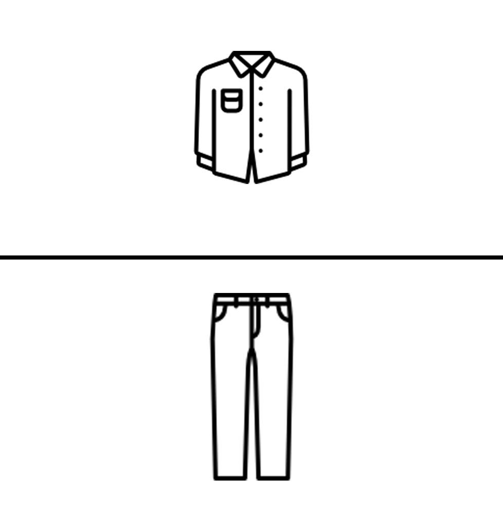 1 Shirt/Polo, 1 Pant