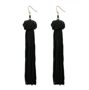 Harleen Black Earrings