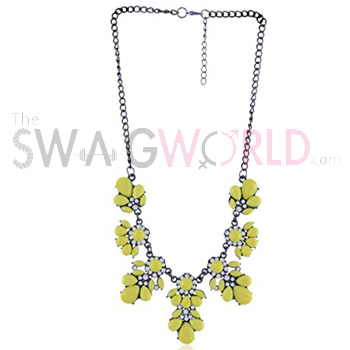 Candy Yellow Statement Necklace (1)