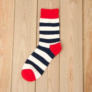 Cotton Socks – Blue White Stripes