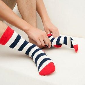 Pure Cotton Crew Length Men/Women Socks,Inskinn110