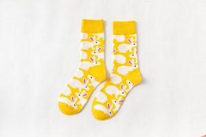 Pure Cotton Crew Length Men/Women Socks,Inskinn155