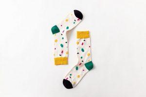 Pure Cotton Crew Length Men/Women Socks,Inskinn183