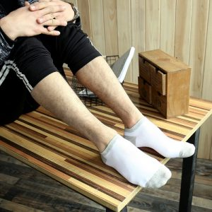 Pure Cotton Ankle Length Men Socks,Inskinn261