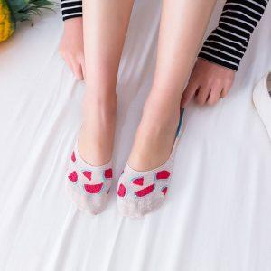 Pure Cotton No Show/Loafer Women Socks,Inskinn277