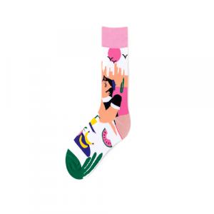 Pure Cotton Crew Length Men/Women Socks,Inskinn365