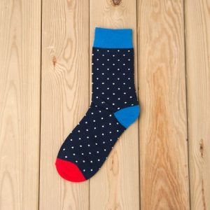 Cotton Socks – Navy Blue – Dotted